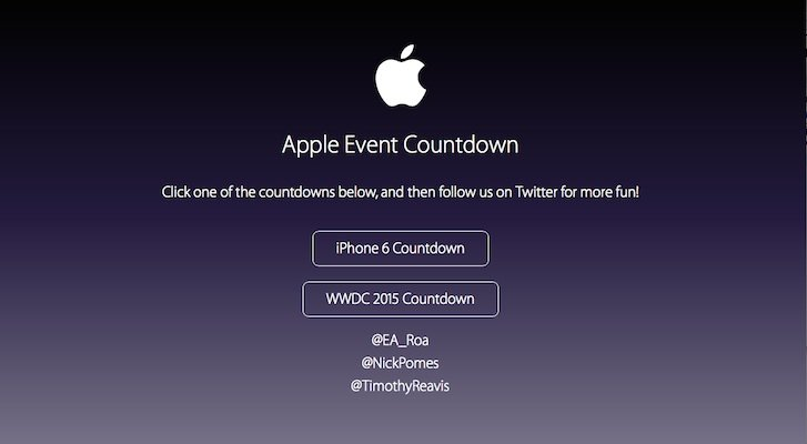 Countdown for apple event