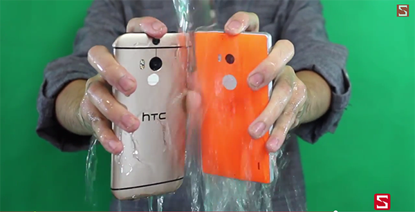 Ice Bucket Challenge in HTC and Nokia (1)