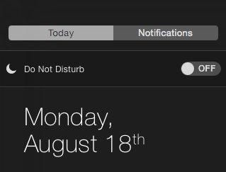 通知中心加入原本 iOS 才會有的勿擾模式