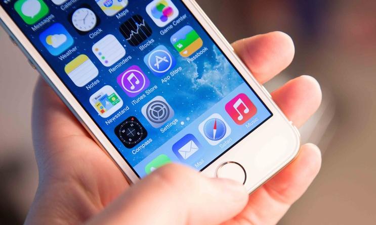 iphone 5s home screen