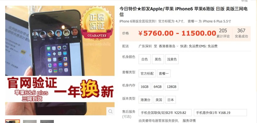 iPhone 6 china Price