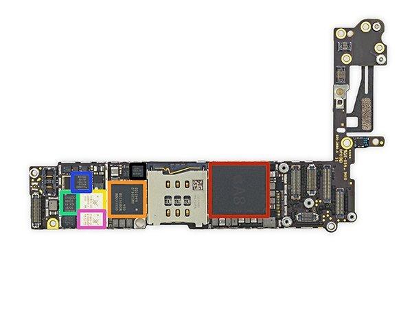之前 iFixit 曾經拆解過 iPhone 6 時,在主機板之中發現