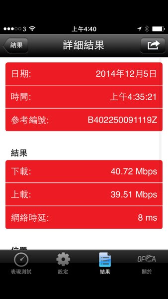 ▲離開 Router 約 3.5 米,關上房門進行測速。