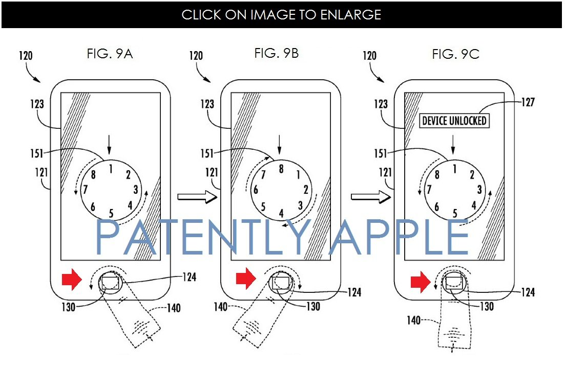 apple patent that future iphone touch id unlock like Android_02