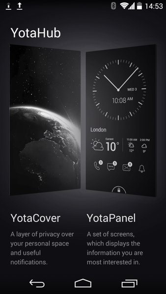 ▲在 YotaHub 可以設定機背 EDP 屏幕功能。
