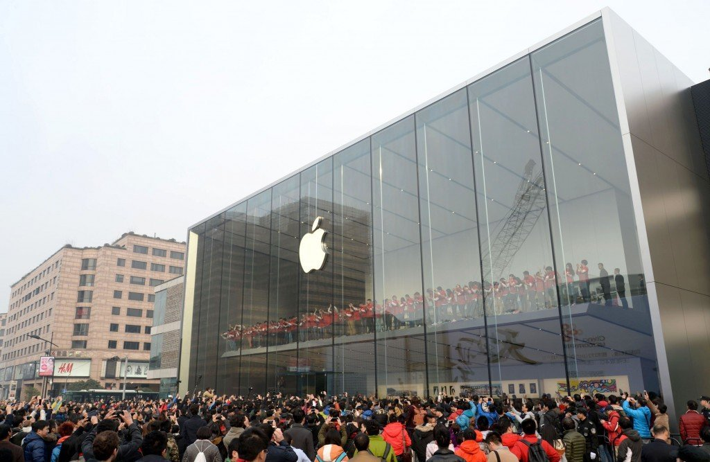 Apple Flagship Store Opens In Hangzhou