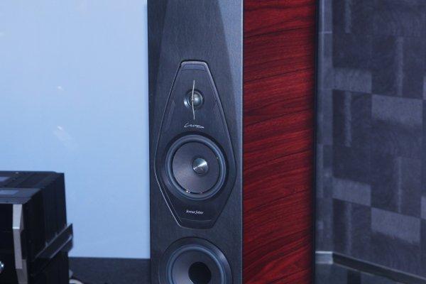 ▲高音單元使用了 Arrow Point Damped Apex Domw 29mm 軟膜單元,高音的擴散範圍大。