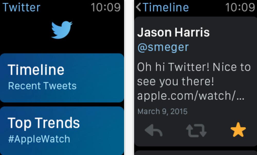 更新前,Apple Watch App 在 App Store 的截圖是以矩形為主。
