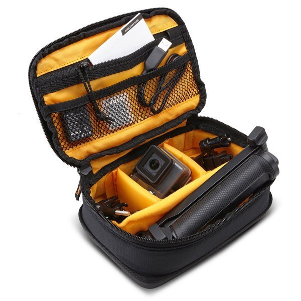 A rugged, protective case designed to keep up with your adventurous side.  Fits a GoPro, 3-way, remote control, mounts and accessories.