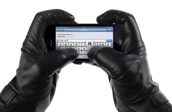 "Having a touchscreen phone in winter can be a pain especially when you have to constantly take your glove off to use it. But that inconvenience could now be a thing of the past after a company came up with a novel pair gloves that allow you to use your iPhone without taking them off. The Leather Touchscreen Gloves by Dutch firm Mujjo keeps iPhone users' hands warm, while at the same time allows phone users to tap away on the screen. The Ethiopian lambskin gloves use nanotechnology integrated into the leather to make them touchscreen compatible and have been treated for wind and water resistance.  A description on the company's website reads: ""Regular leather gloves don't work with touchscreens; these gloves do! These leather gloves work flawlessly with almost every touchscreen, enabled by revolutionary nanotechnology. ""The nanotechnology functions independent from the human skin, this enables us to fully insulate the gloves with a layer of soft 100% wool lining. The leather fully retains its characteristics, affording the wearer maximum comfort and dexterity just like any other glove. ""Mujjo's leather touchscreen gloves do not only provide functionality, but also warmth, durability and a comfortable fit."" The gloves come in a variety of sizes and are available online for �105. **MANDATORY CREDIT LONDON MEDIA** 呶ondon Media Press Ltd 11a Printing House Yard London E2 7PR 0207 613 2548 *** Local Caption *** ALL MATERIAL MUST BE CREDITED ""LONDON MEDIA"". 100% SURCHARGE IF NOT CREDITED"