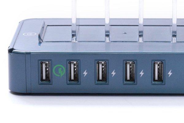 ▲每個USB 插口怕可輸出 2.4A,而最左邊的就是 QC 2.0 的快充插口