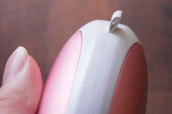 ▲暖手器上有一個穿繩位,可以加上匙扣,避免掉失