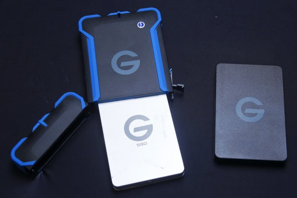 ▲G Technology 推出不同的硬碟型號,可以插入 G Drive ATC with Thunderblot 中使用
