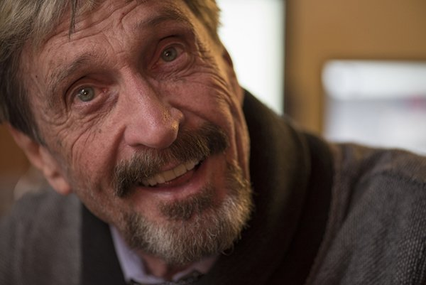 2/3/15 11:57:39 AM -- Opelika, AL, U.S.A -- John McAfee, founder of McAfee Anti-Virus, talks about his latest venture, FutureTense, in Opelika, Ala. Photo by Michael A. Schwarz, USA TODAY contract photographer ORG XMIT: MS 132524 McAfee 02/03/2015 [Via MerlinFTP Drop]