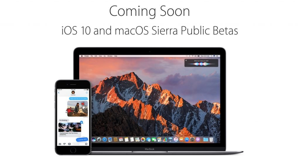 ios 10 and macos sierra public beta