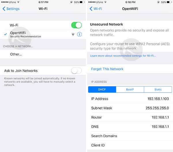 ios-10-unsecured-network