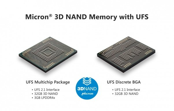 Mobile 3D NAND UFS with specs and logo