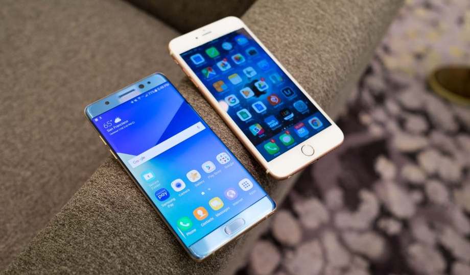 iphone 6s plus and galaxy note 7