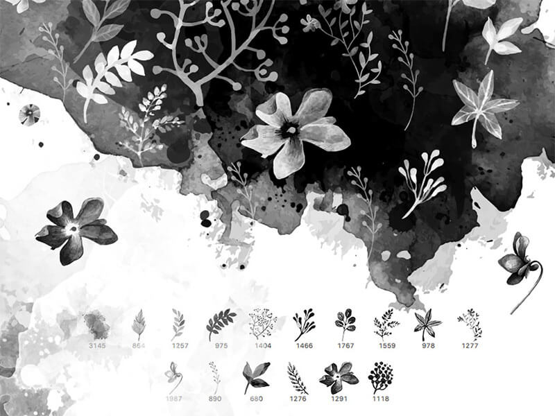 watercolor-floral-free-brushes