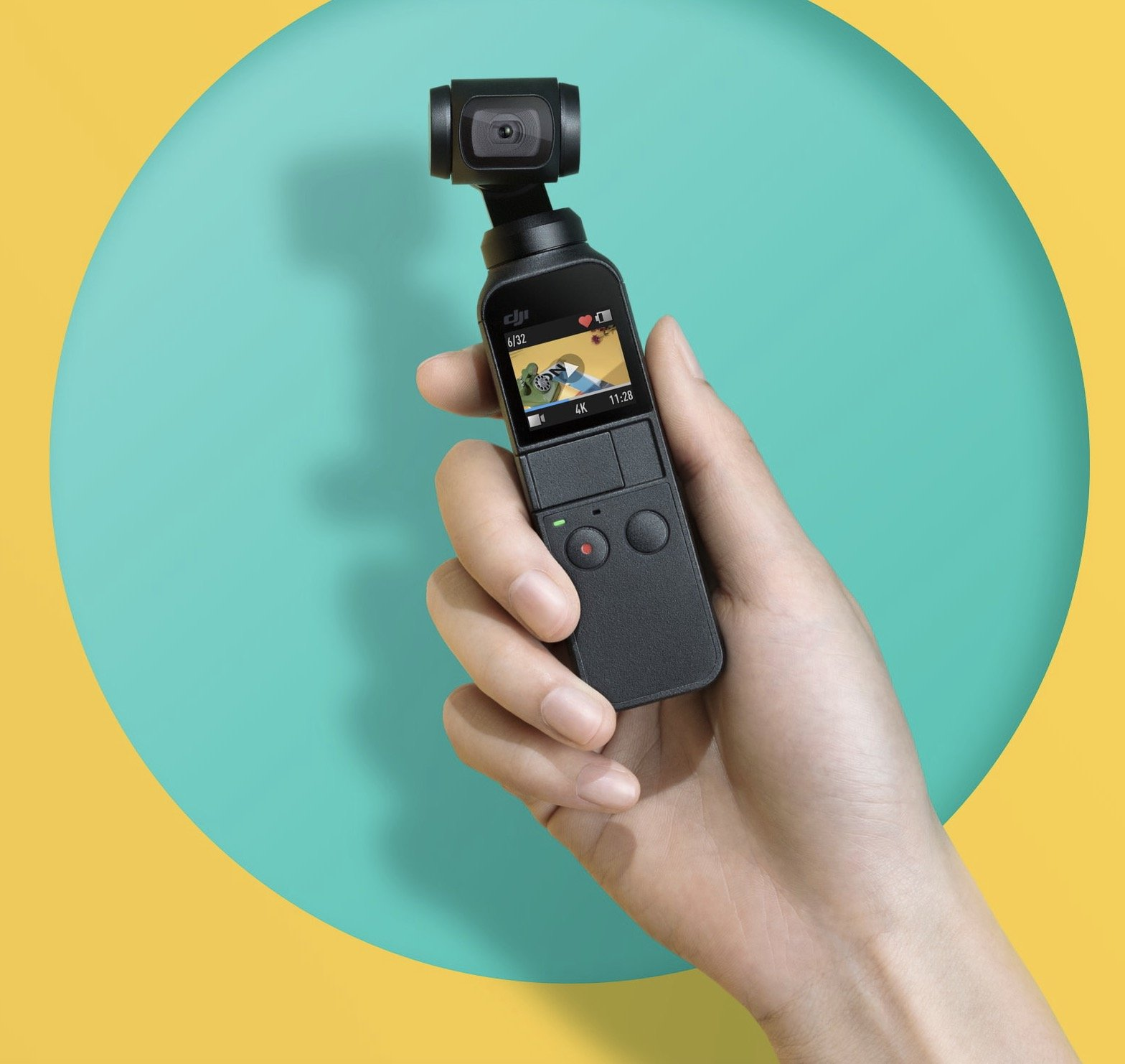 Attachable to Smartphone and 32GB Micro SD Card Bundle DJI Osmo Pocket Handheld 3 Axis Gimbal Stabilizer with Integrated Camera